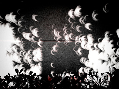 More eclipses projecting through the shadows.