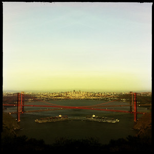 Golden Gate Bridge, Hipstamatic-style